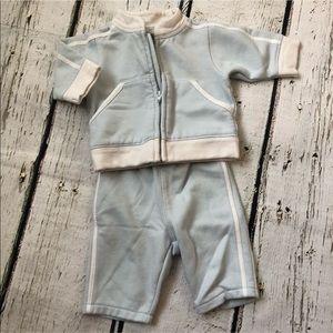 Baby Gap Light Blue SweatSuit Outfit Newborn